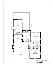 2107 Reaves Drive existing floor plan